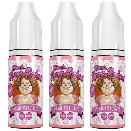 Mum's Homebaked Strawberry Custard E-Liquid 3 x 10ml